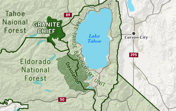 area map of Granite Chief