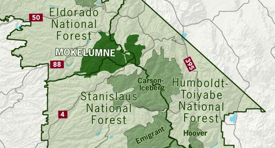 area map of Mokelumne